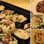 Garlic Mushroom Bean Maki Sushi