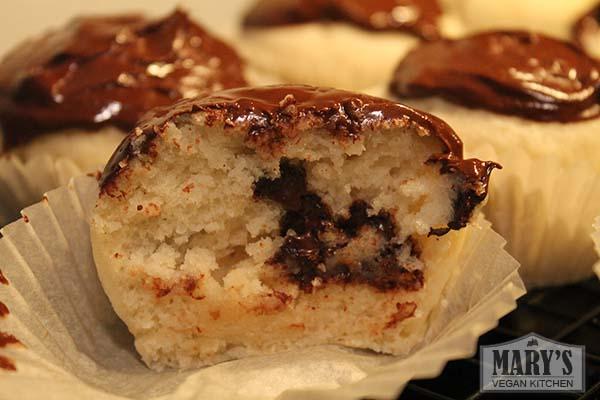 Chocolate Mint Cupcake Inside