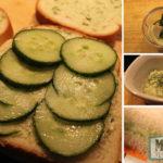 Vegan cucumber sandwiches