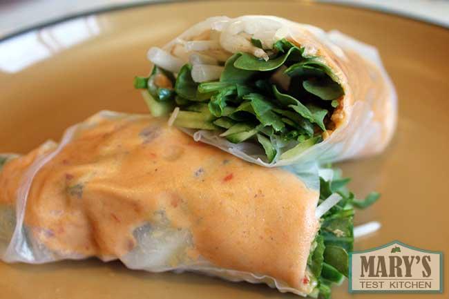 spicy peanut salad rolls