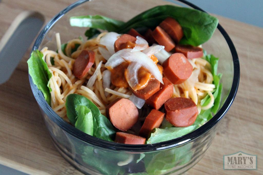 spicy peanut noodle bowl