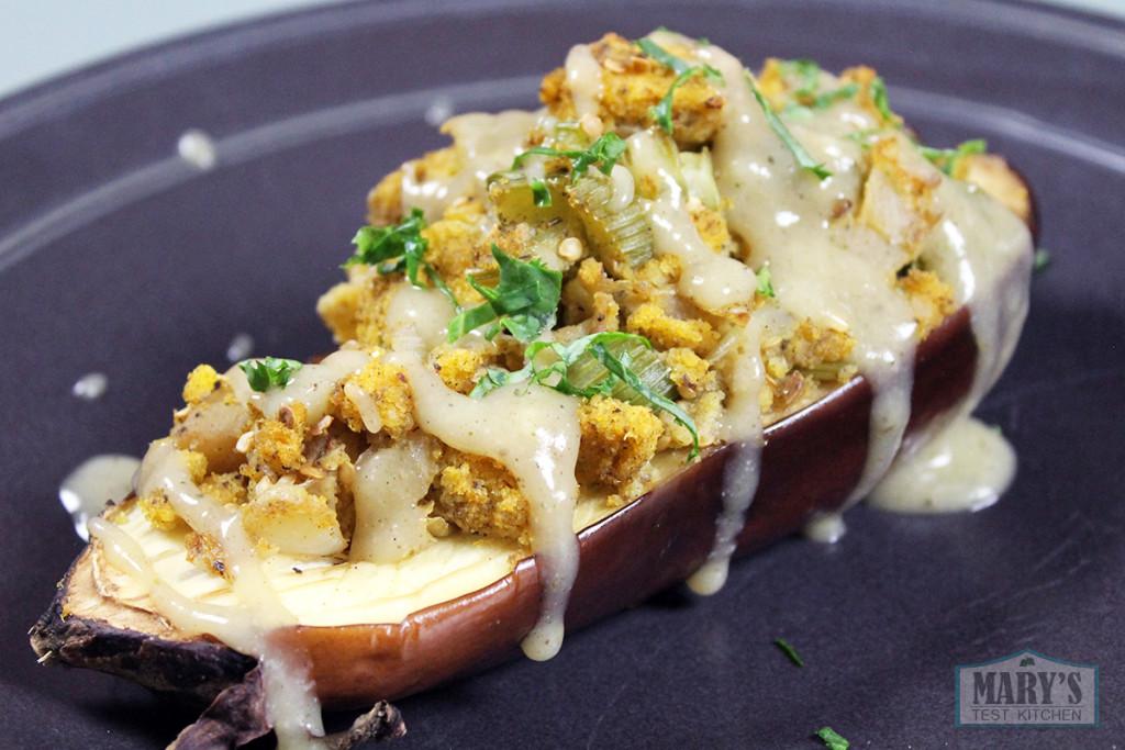 fb-stuffed-eggplant-cornbread-instant-gravy