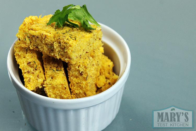 vegan gluten-free cornbread in a ramekin