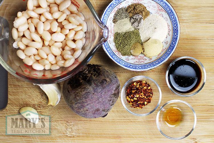 spicy beet seitan ingredients