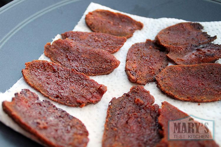 maple glazed fried seitan slices