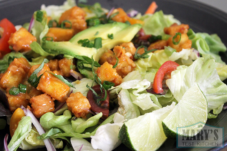 spicy-baked-peanut-tofu-salad