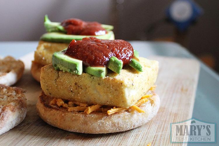 open-faced-garlic-tomato-avocado-tofu-breakfast-sandwich