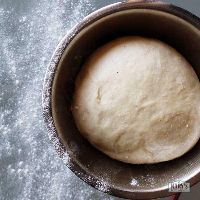 bowl of risen dough