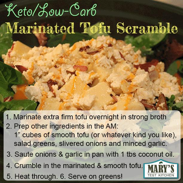 keto marinated tofu scramble