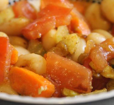 Warm Avocado Butter Bean Salad Recipe