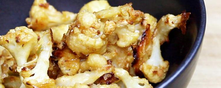 Crispy Baked Cauliflower Bites | Vegan Recipe