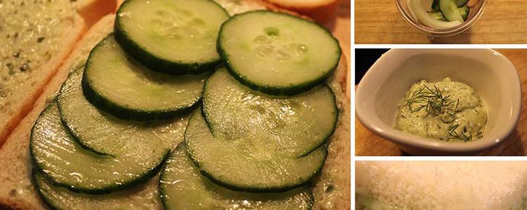 Vegan Cucumber Tea Sandwiches with Herb Cream Cheese