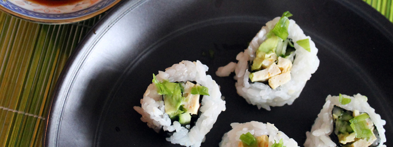 Vegan California Rolls and Uramaki Sushi Technique for Beginners