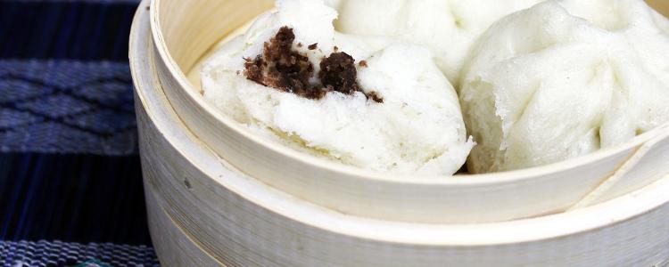 Chinese Steamed Sweet Red Bean Buns 豆沙包; (Dou Sha Bao)| Vegan Recipe