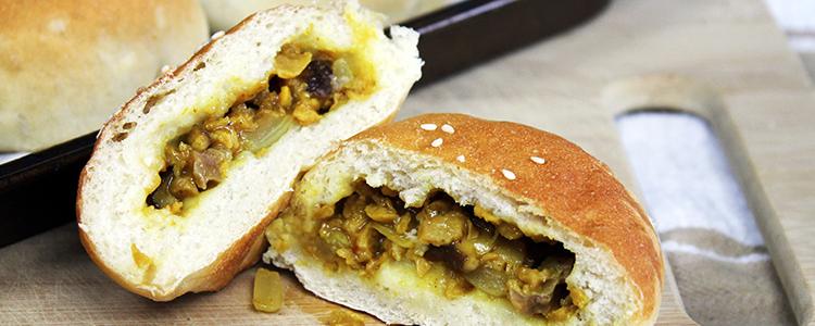 Vegan Curry Beef Buns