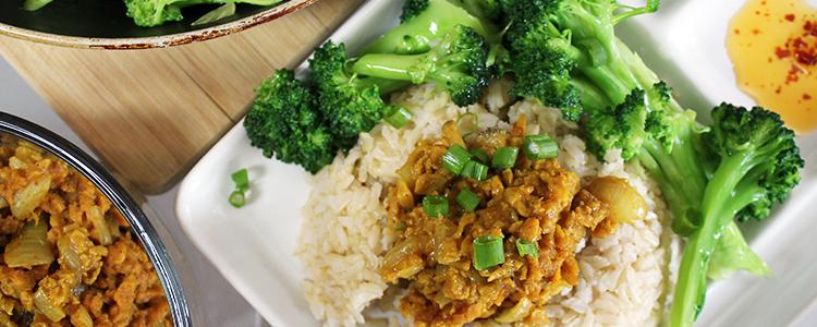 Vegan Curry Beef Crumbles Recipe