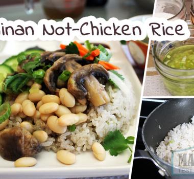 """Veganized Hainanese """"Chicken"""" Rice Recipe"""